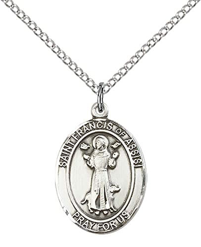 Amazon f a dumont church supplies sterling silver st francis f a dumont church supplies sterling silver st francis of assisi pendant with 18quot stainless aloadofball Gallery