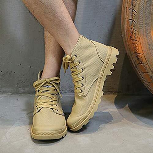 Fh 5 En Size Lovers Chaussures Hautes Trend Khaki uk6 cn40 couleur Boots Martin Toile Eu39 Shoes 6r65R