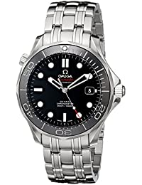 Men's 212.30.41.20.01.003 Seamaster Black Dial Watch