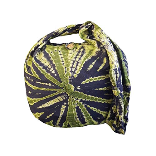 BTP! Tie Dye Sling Crossbody Shoulder Bag Purse Hippie Hobo Cotton Bohemian - Green Firework VH7