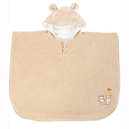 toalla de baño para niños Capa con Capucha Mantón de baño Bebé 100% Algodón Toalla