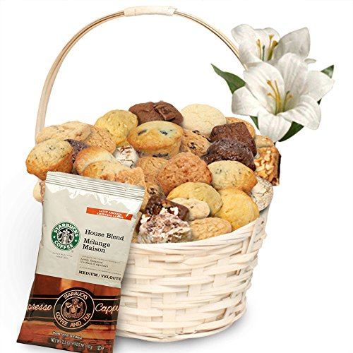 Simply Scrumptous Delectable Delights Muffin, Brownie & Cookie Gift Basket With Coffee
