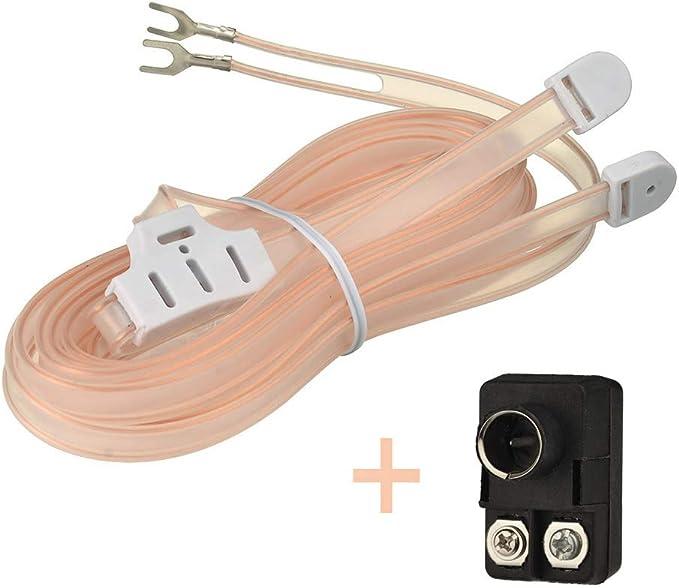 Bingfu Antena de Radio FM Antena Interior T Formación Cable Enchufe Transformador Balun F Hombre 75/300 Ohm Adaptador 2 Kits para la Recepción Estéreo ...