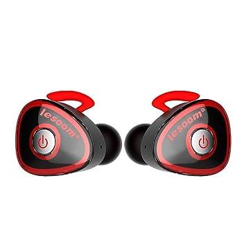 Realmente Auriculares inalámbricos, lesoom Mini Twins True Wireless Bluetooth Deporte Auriculares estéreo Auriculares cancelación de