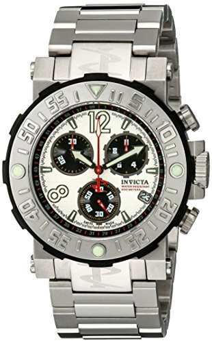 Invicta Men's 6129 Reserve Collection Sea Rover Chronograph Stainless Steel Watch (Dial Textured Silver Reserve)