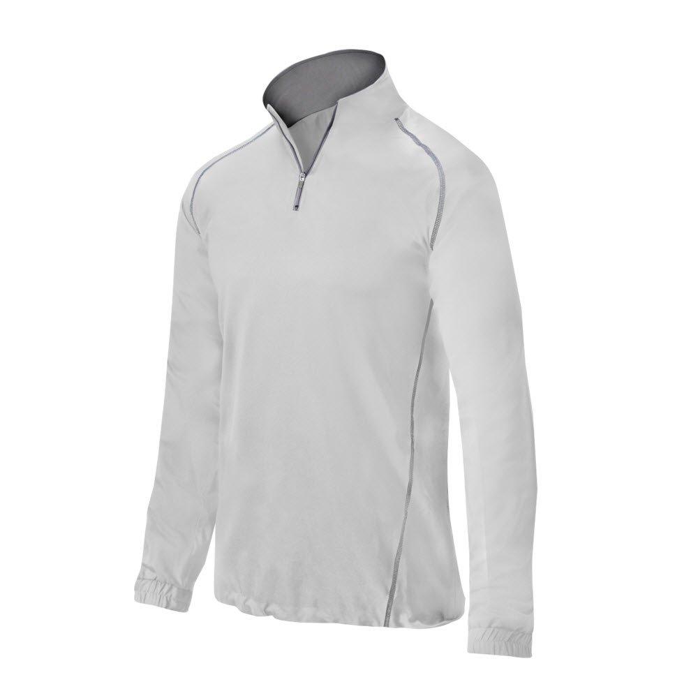 ミズノ Comp バッティングジャケット 半ファスナー B016WFWKZE Medium|ホワイト ホワイト Medium