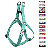 Pawtitas Pet Soft Adjustable Step-In Reflective Puppy / Dog Harness Small 5/8 Inch Teal