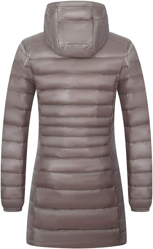 JJZXX Blouson Femme Léger Doudoune Veste, Hooded Down Jacket à Capuche Manteau, Coupe-Vent, 12 Couleur XXS-5XL Gris