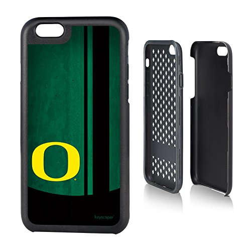 6 & iPhone 6s Rugged Case officially licensed by the University of Oregon for the Apple iPhone 6 by keyscaper® Durable Two Layer Protection Shock Absorbing ()