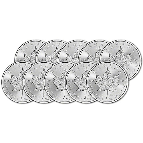 CA 2017 Canada Silver Maple Leaf (1 oz) TEN (10) Brilliant (Silver Maple Leaf Bullion)