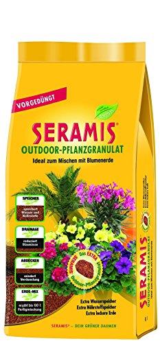 Seramis Outdoor-Pflanzgranulat vorgedüngt 6 L, gelb, 20,0 x 9,0 x 36,0 cm, 731106