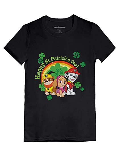 5699fc0b Happy St. Patrick's Day Paw Patrol Official Toddler/Kids Girls' Fitted T-