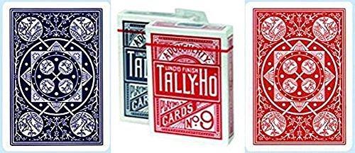 Tally-Ho No.9 Fan Back Playing Cards 12 Deck Bundle (6 RED & 6 (Tally Ho Fan)