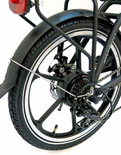 bicicleta eléctrica QUADRINI, bicicletas eléctricas plegables, modelo MINIMAX, Shimano, La batería de litio-ion 36V10Ah (360Wh), Motor trasero marca 36V ...