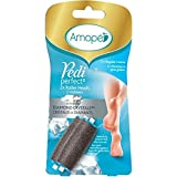 Amope Perfect Pedicure, Electronic Foot File Refills for Soft Beautiful Feet, Coarse, 2 Count