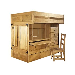 Awe Inspiring Powell Rustica Full Over Twin All In One Bunk Bed With Chair Frankydiablos Diy Chair Ideas Frankydiabloscom
