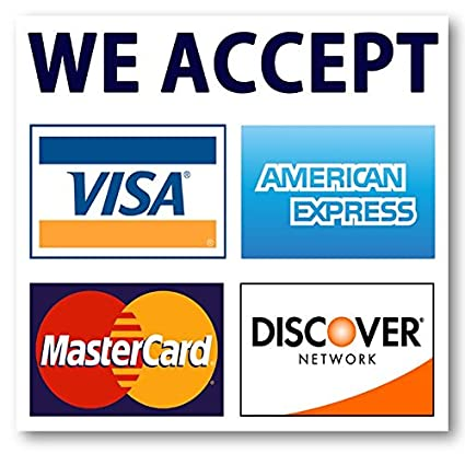 Who Accepts Amex >> Amazon Com We Accept Credit Cards Amex Visa Mastercard Discover