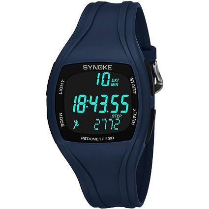 MD Reloj Digital para Hombre De Color Negro Reloj LED Reloj Deportivo Deportivo A Prueba De