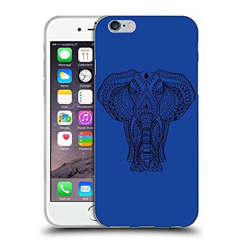 GoGoMobile Coque de Protection TPU Silicone Case pour // Q08170613 Éléphant indien 1 Bleu // Apple iPhone 7