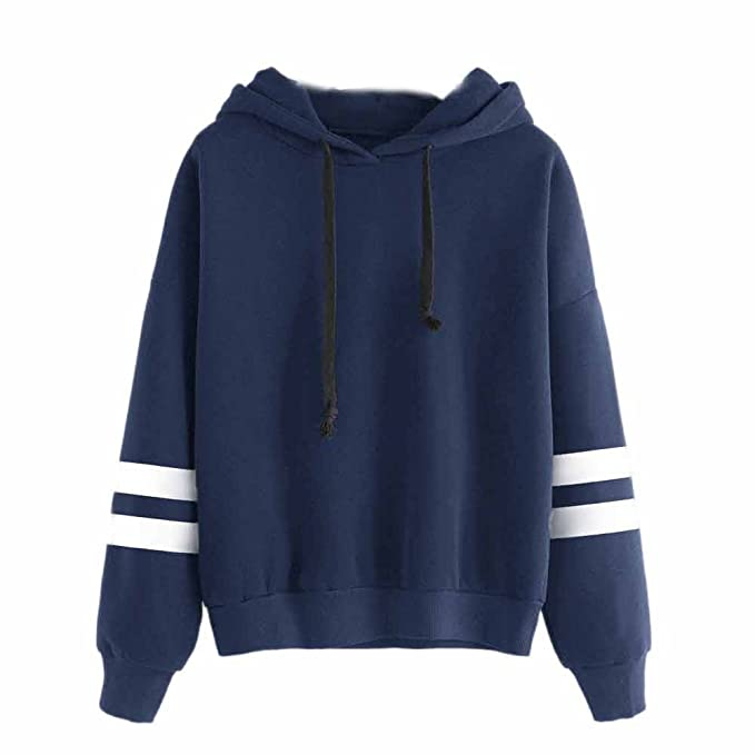 Amazon.com: Woaills Hoodie Sweatshirt,Women Long Sleeve Tops Blouse O-Neck Hooded Pullover Jumper (M, Wine Red): Home & Kitchen
