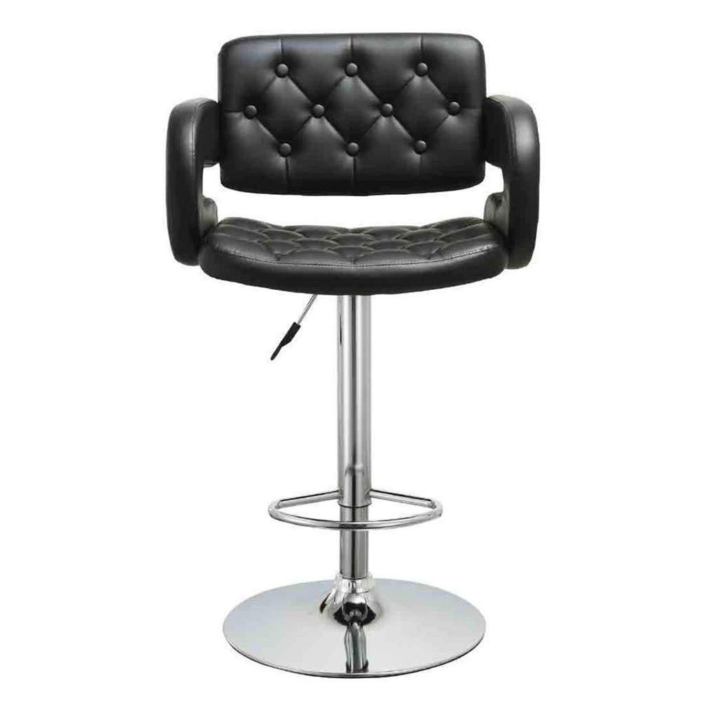 Pratcgoods Comfort PU Leather Cushions Chairs Adjustable Height Bar Stools 2 Pcs Swivel Chair Sets for High Counter in Office Home Salons by Pratcgoods