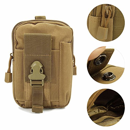 Molle Pouch,Charminer Compact Tactical Sport Multi-functional Pouch EDC Utility Gadget Belt Waist Bag with Cell Phone Pack Gear Tools Organizer Camo Bag Military Nylon Utility Camping Pouch