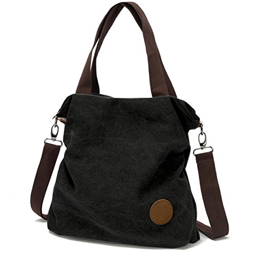 Bag Shoulder Tote Body Myhozee Casual Canvas Bag Cross Women 1 Black Satchel Purse Handbag xq8wIX5Ty