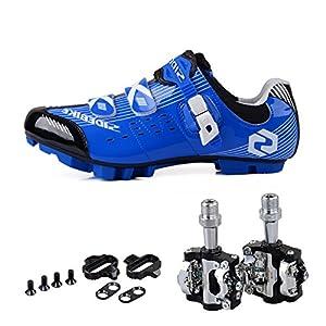 GUTANG-DC Scarpe da Ciclismo MTB per Mountain Bike Unisex Adulto con Pedali (Si Prega di Scegliere Una Taglia Pi…