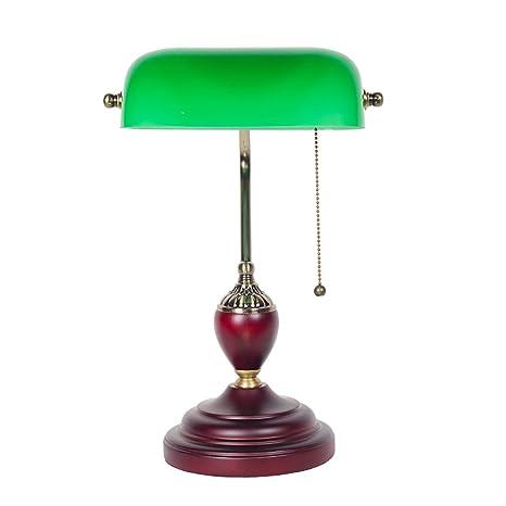 Zxldp Lampada Da Tavolo Legno Antico D Epoca Da Tavolo In Vetro