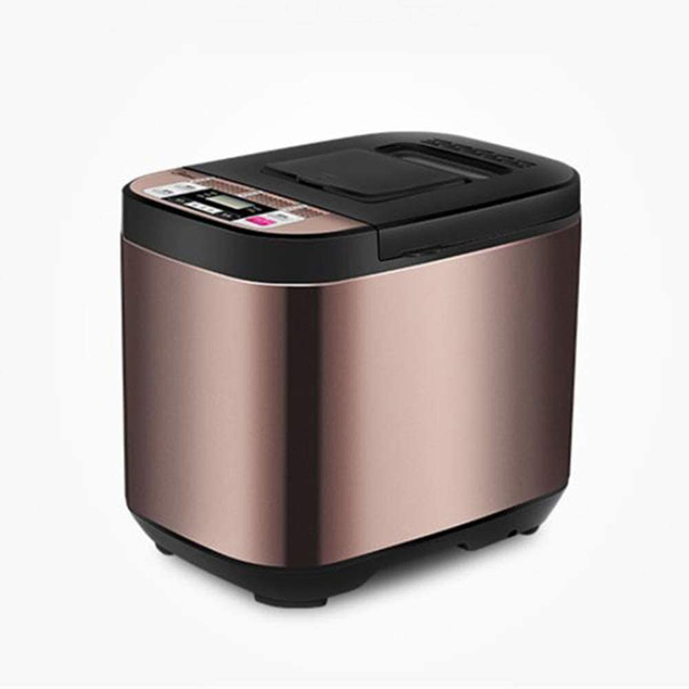 Toaster, Multifunctional Fully Automatic Reservation 580w Home Kitchen Bread Machine Electrical Power Off Memory and Flour 500g Capacity Golden