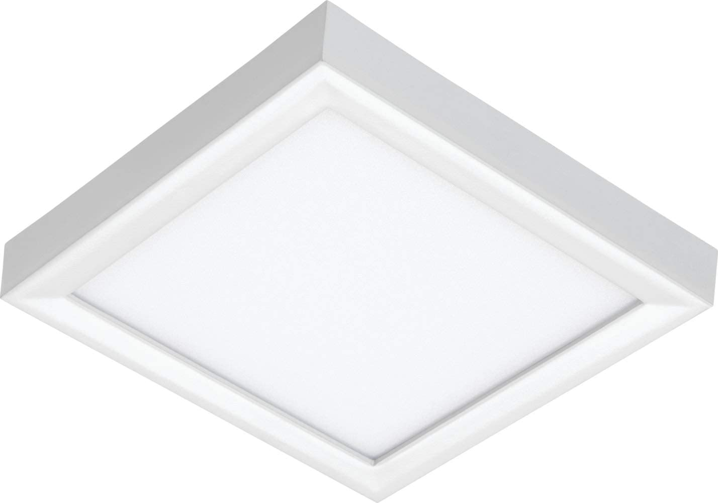 White Juno Lighting JSFSQ 5IN 07LM 40K 90CRI 120 FRPC WH LED Square 5-Inch Slim Form Flush Mount Ceiling Light