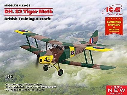 ICM 32035-1//32 De Havilland DH.82A Tiger Moth British Trainer Aircraft