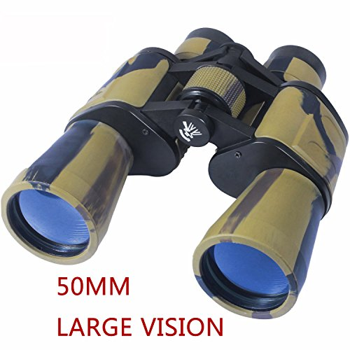AUGYMER 50mm Binoculars for Adults, HD BAK4 Binoculars for Hunting Bird Watching Wide Angle Fog-proof Large Eyepiece High Power Binocular for Hunting Camping with Case(8 Times)
