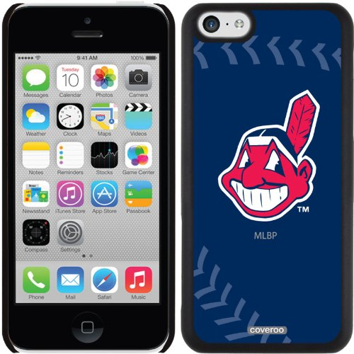 Coveroo Cleveland Indians MLB Stitch Design Phone Case for iPhone 5c - Retail Packaging - Black (Iphone 5s Cleveland Indians Case)