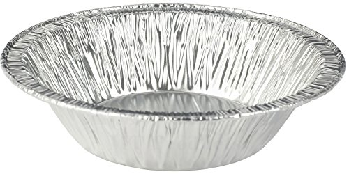 MT Products 5 Inch Disposable Aluminum Foil Tart/Pie Pan 1 1/4