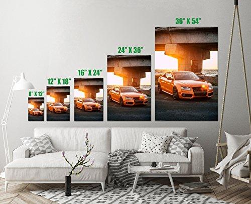 Audi S5 Vehicle Sport Luxury Car Orange Art Print Wall Decor