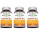 Amazing Nutrition Vitamin B6 Dietary Supplement – 25 mg, Pack of 3-250 Tablets – Supports Healthy Nervous System, Metabolism & Cell Health