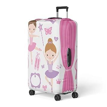 ea9da755fb0c Amazon.com: Pinbeam Luggage Cover Purple Princess of Little ...