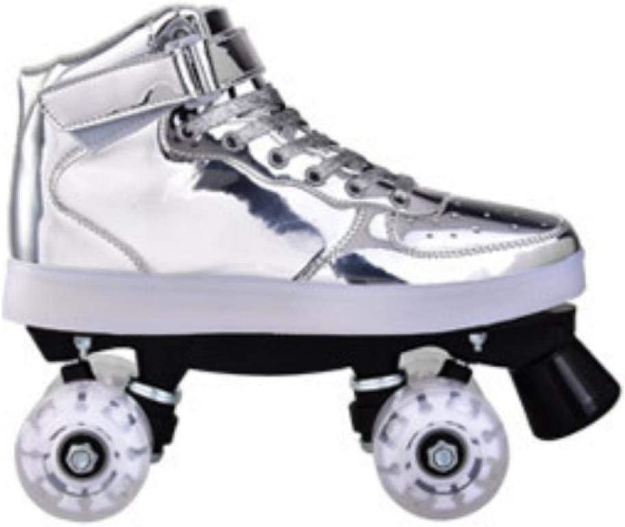 Roller Skates for Women Cool Womens Classic Roller Skates Premium PU Leather Rink Skates for Girls Unisex with Light 4.5-9.5
