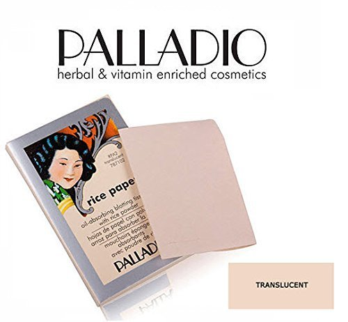 Blotting Blots Rice Paper Oil - 3 Pack Palladio Beauty Rice Paper RPA2 Translucent