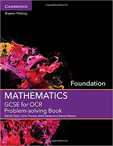Book GCSE Mathematics for OCR Foundation Problem-solving Book (GCSE Mathematics OCR) by Tabitha Steel (2015-06-18)