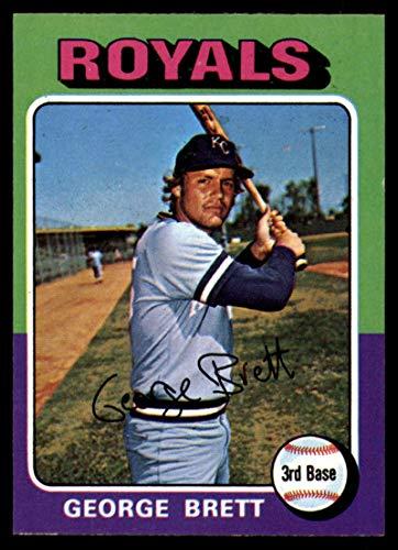 (Baseball MLB 1975 Topps Mini #228 George Brett NM Near Mint RC Rookie Royals)