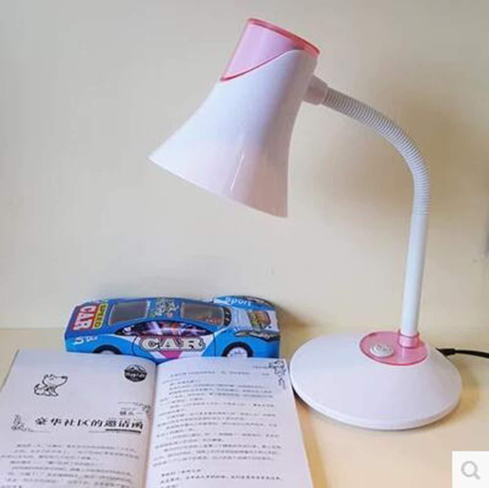 AFGD Tischlampeleselampe, Leselampe, Energiesparlampe Und Arbeitslampe, Rosa    Weiß
