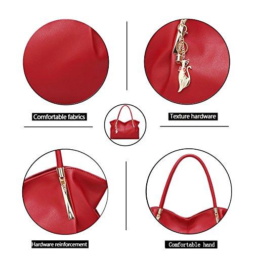 Tisdaini borsa pelle borse borse a a Rosso spalla tracolla in donna borse borsetta donna 4Tr4Bwpq