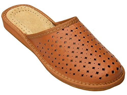 Bawal - Zapatillas de estar por casa de Piel para mujer marrón