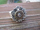 Bullet Ring with Rhinestones and Swarovski Crystal Accents - Stretch 45 Bullet Ring - April Birthstone - Bullet Jewelry