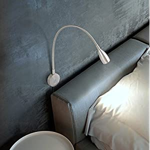 acegoo Bedside Reading Light, Minimalist LED Bed Reading Lamp Dimmable Touch Switch Headboard Wall Surface Mount Brushed Nickel