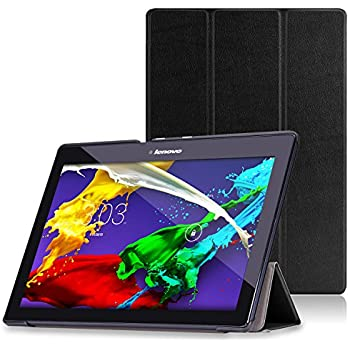 lenovo tab 2 a10 tab x103f tab 10 case moko 3 fold stand smart cover case for. Black Bedroom Furniture Sets. Home Design Ideas