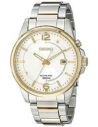 Seiko SKA672 Men's Core Silver Dial Two Tone Steel Power Reserve Kinetic Watch