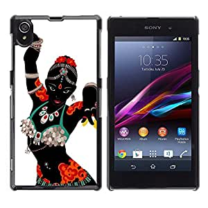 Paccase / SLIM PC / Aliminium Casa Carcasa Funda Case Cover - Indian Dance Woman Costume Attire Art - Sony Xperia Z1 L39 C6902 C6903 C6906 C6916 C6943